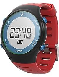 9e84dc548842 EZON L008B11 al aire libre rojo correa runing multifunción reloj deportivo.  B00XJRDG84