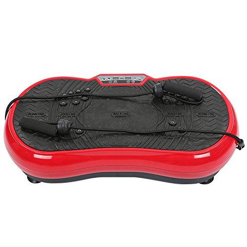 Flyelf Vibrationsplatte testsieger mit Bluetooth Musik,Trainingsbänder,Fernbedienung (Rot + Schwarz)
