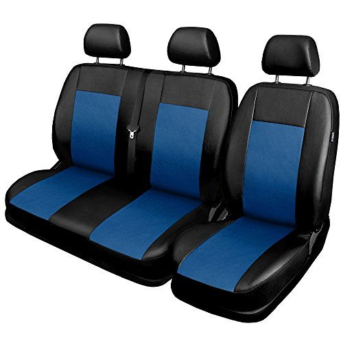gsmarkt | Bleu | 1 + 2 housses Housse de siège universel Housse de housses siège auto protection Housse de siège auto auflagen Housse de siège avant COMFORT