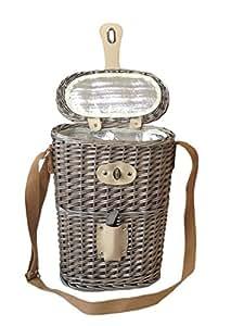 Kühltaschen Korb Für 2 Flaschen Wein - Ideal Für Picknick