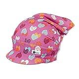 Sterntaler Kopftuch für Mädchen mit buntem Herzchenmuster, Alter: 18-24 Monate, Größe: 51, Rosa (Orchidee)