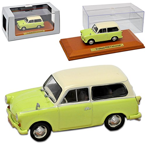 alles-meine.de GmbH Trabant P50 500 Universal Kombi Grün Beige 1957-1962 DDR 1/43 Atlas Modell Auto