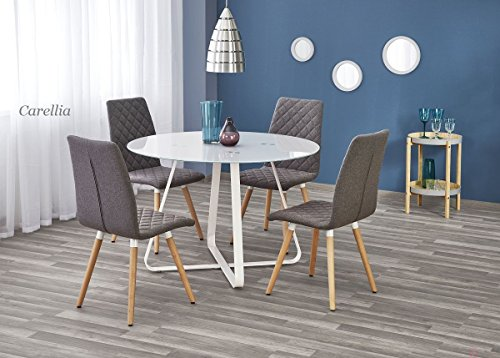 Tavolo Da Pranzo Rotondo : Carellia tavolo da pranzo rotondo u Ø cm h cm u bianco