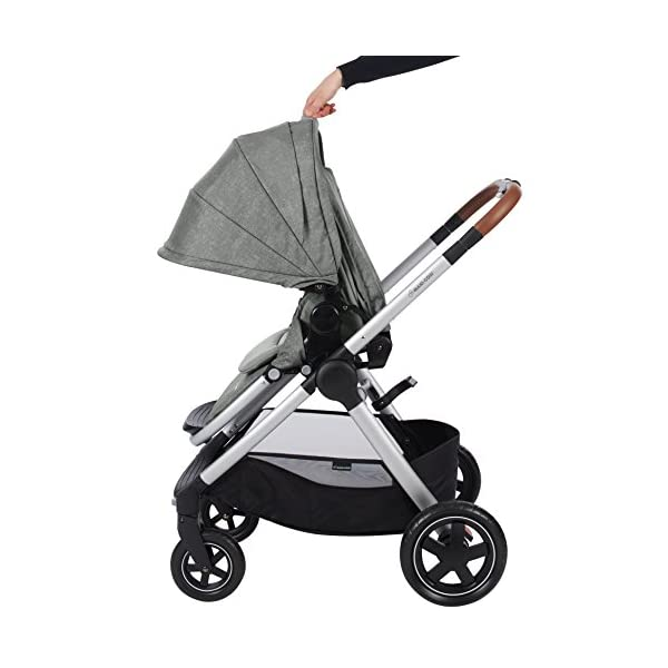 Maxi-Cosi Adorra Baby Pushchair, Comfortable and Lightweight Stroller with Huge Shopping Basket, Suitable from Birth, 0 Months - 3.5 Years, 0-15 kg, Nomad Grey Maxi-Cosi Cocooning seat - the luxury of a large padded seat for baby Lightweight - a light stroller less than 12kg that makes walking effortless Huge shopping basket - very easy to access 9