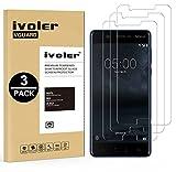 iVoler [3 Stücke] Panzerglas Schutzfolie für Nokia 5 2017, 9H Härte, Anti- Kratzer, Bläschenfrei, [2.5D Runde Kante]