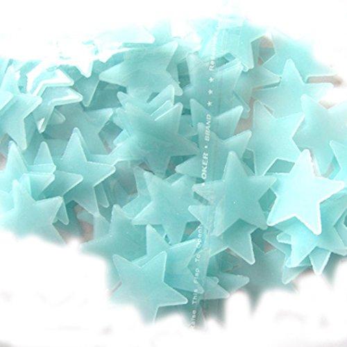 100 unidades ideal para el dormitorio infantil brillan en la oscuridad Generic Estrellas fluorescentes adhesivas
