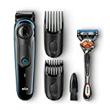 Braun BT3040 Beard / Hair Trimmer for Men with Free Gillette Fusion ProGlide Manual Razor 3