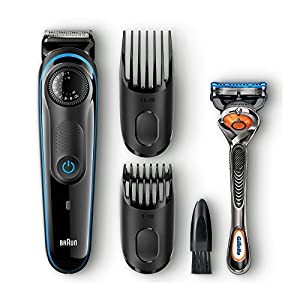 Braun BT3040 Beard / Hair Trimmer for Men with Free Gillette Fusion ProGlide Manual Razor 1