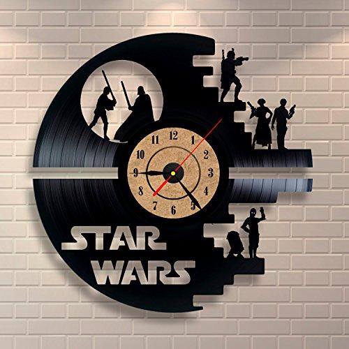 Schwarz Wanduhr Star Wars Vinyl Record Design  (Misc.)