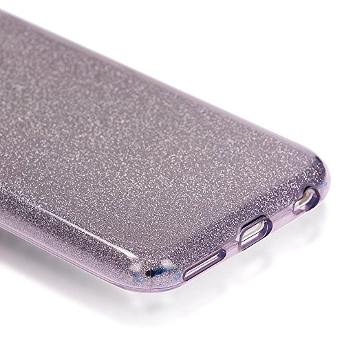iPhone 6 6S Custodia in Silicone di NICA, Glitter Copertura Protezione Sottile per Cellulare, Slim Gel Cover Case Protettiva Scintillio Smartphone Bumper per Telefono Apple iPhone 6S 6 - Turchese Grigio