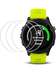 Screen Protector for Garmin Forerunner 935, AFUNTA 3 Pack Tempered Glass Film Anti-Scratch High Definition Full Coverage Cover for Smartwatch