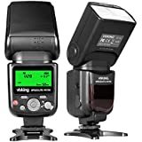 Voking VK750 Manual LCD Display Universal Flash Speedlite For Canon Nikon Pantax Panasonic Olympus And Other DSLR Cameras With Hot Shoe Stand