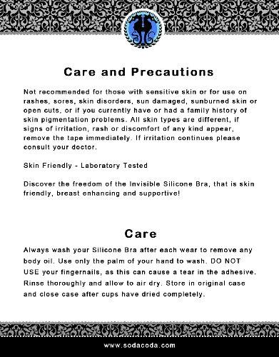 SODACODA Bügelloser selbstklebender Push Up SILIKON BH - Stick On Bra - Klebe BH - in verschiedenen Größen - Ohne Bügel ohne Träger - Rückenfrei - Unsichtbar Beige