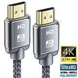 Cavo HDMI 4K 0.9m, Snowkids HDMI 2.0 a/b ad alta Velocità con Ethernet, Cavo Hdmi Supporta 4K 2.0/1.4a, Video UHD 2160p, Ultra HD 1080p, 3D, Xbox, PS3, PS4, TV, Computer e Monitor