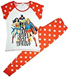 Lora Dora Mujer–Camiseta de Pijama & Pantalones Largos–Super Hero–Algodón DC Originals 36/38