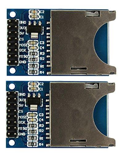 COM de Four® Lector de tarjetas SD Módulo SPI SD Card Socket para Arduino ARM MCU (2unidades)