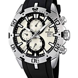 Festina F16672/1 - Reloj cronógrafo de cuarzo para hombre con correa de caucho, color negro de Festina