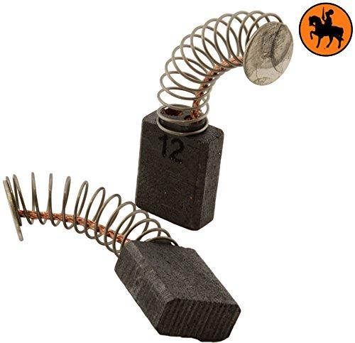 Preisvergleich Produktbild Kohlebürsten für METABO BHE 6011 S- R+L Hammer -- 5x10x12,5mm -- 2.0x3.9x4.7'' -- Mit automatische Abschaltung