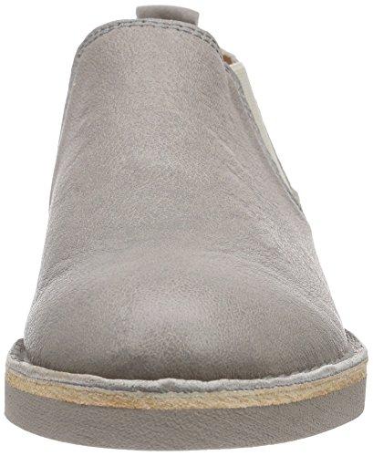Shabbies Amsterdam Low Chelsea Shoe Matching Norfolk Flat Sole Damen Chelsea Boots Grau (Perla)