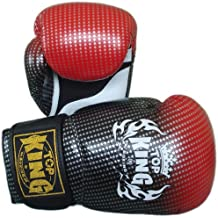 Top King Air Super Star TKBGSS-01-RD - Guantes de muay thai, color rojo Talla:12 Oz.