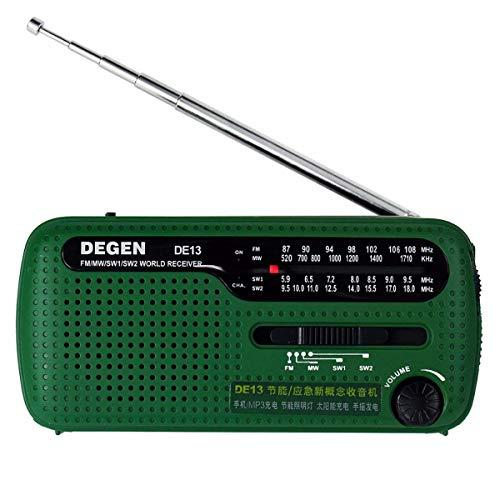 Hihey Tragbares Handkurbel AM/FM Solar Radio Älteres Notradio mit Taschenlampe und Solar-Ladefunktion für den Ausnahmezustand/Weltempfänger Radio