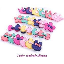 10 piezas de pelo Fringe Grip Pad Sticker Holder Estabilizador de maquillaje Lavado de cara Flequillo lindo frontal Hair Magic Paste puestos para niños color al azar