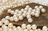 100 Perlen 10mm perlmutt creme, sehr edel