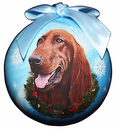 Irish Setter Christmas Ornament Shatter Proof Ball Easy To Personalize a perfect gift for Irish Setter Lovers by e & s Pets