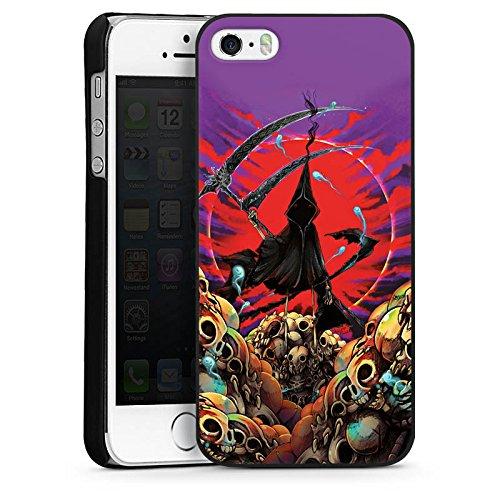 Apple iPhone 6 Housse Étui Silicone Coque Protection Faucheur Tête de mort Faux CasDur noir