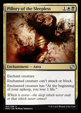 Magic the Gathering - Pillory of the Sleepless 183 249 - Modern Masters 2015