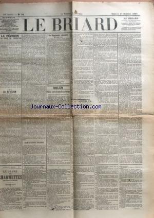 BRIARD (LE) [No 76] du 01/10/1898 - LA REVISION LA COUR DE CASSATION - LA REVISION - BLAME AU GENERAL ZURLINDEN - LES ENGAGEMENTS VOLONTAIRES DE TROIS ANS - MELUN - POLICE CORRECTIONNELLE DE MELUN - FONTAINEBLEAU - CONSEIL MUNICIPAL DE FONTAINEBLEU - LE DRAME DES CHARMETTES PAR HENRI DEMESSE.