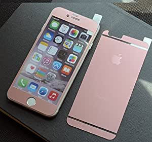 Relax&Shop Front + Back Tempered Glass Matte Finish Screen Protector for iPhone 6 - Rose Gold
