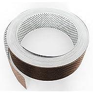 Fassadenprofile Lüftungsstreifen, Aluminium gerollt 2 x 6000 cm x 50 mm, weiß + braun weiß | braun KAR