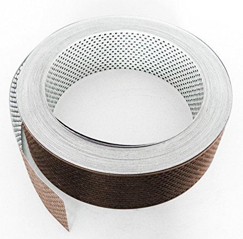 Fassadenprofile Lüftungsstreifen, Aluminium gerollt, 6000 cm x 100 mm, weiß + braun weiß | braun KAR