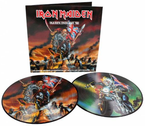 IRON MAIDEN 2 LP RARE PICTURE DISC NEW LIMITED EDITION DOBLE LP ENGLAND HEAVY ROCK HARD (Iron Maiden Picture Disc Vinyl)