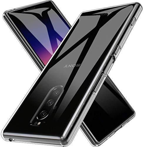 GEEMEE Hülle für Sony Xperia 1, Bunte Plating Bumper Transparent Soft TPU Zurück Telefon Handyhülle Ultra Dünne Anti-Scratch Stoßfest Silikon Schutzhülle