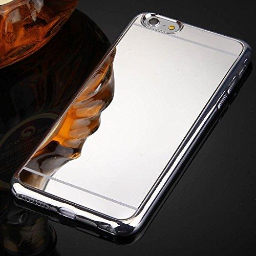 Wkae Case Cover Für iPhone 6 &6s Galvanik Spiegel TPU Schutzüberzug-Fall ( Color : Rose Gold ) Silver