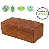 AgriWorld™ COCOPEAT Washed Block - Expands to 3.5 Kg Cocopeat Powder Soil for Nursery, Garden & Home
