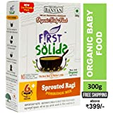 First Solids Natural Homemade and Organic Sprouted Ragi Porridge Mix, 6-24 Months
