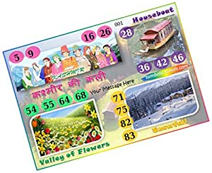 Party Stuff Kashmir Theme Tambola Housie Tickets - Kashmir kukuba 1 - Designer Kukuba (16 Cards) | Kitty Games