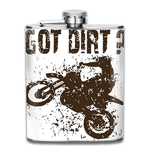 7 Unze Edelstahl Flasche Whisky Alkohol Kappe Got Dirt Bike Motocross Racing Wasser Pot Rum Container Flaschentasche für Unisex