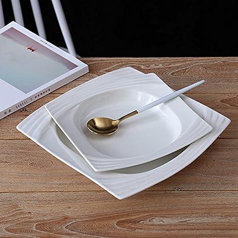 Plaque en porcelaine blanc de l'assiette des plaques latérales plaques