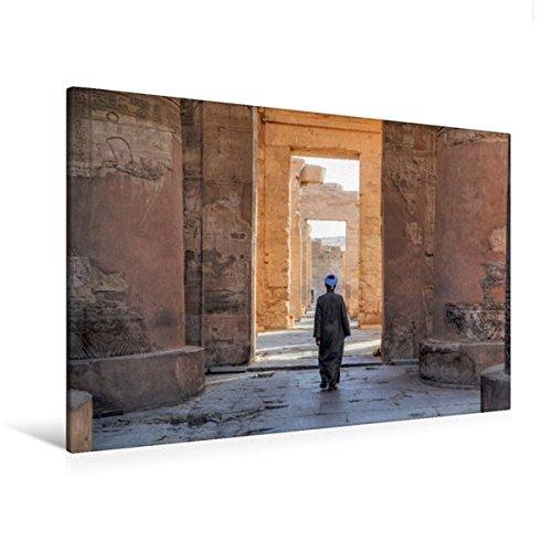 Calvendo Premium Textil-Leinwand 120 cm x 80 cm Quer, Tempel von KOM Ombo   Wandbild, Bild auf Keilrahmen, Fertigbild auf Echter Leinwand, Leinwanddruck Natur Natur