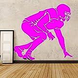 zqyjhkou Man Play Hockey su Ghiaccio Sport Adesivo murale Impermeabile per Ragazzi Soggiorno Pareti Decalcomanie Adesivi murali per Adulti Decorazione Domestica 4 XL 58 cm X 55 cm
