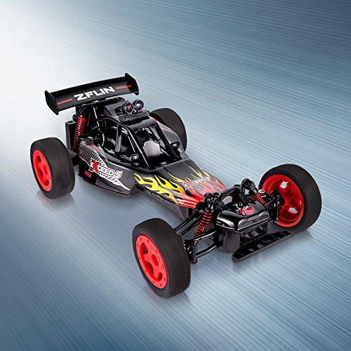 ZFLIN RC Auto 1:16 mit 2.4Ghz Fernsteuerung Monster-Truck RC Buggy elektrischer Hochgeschwindigkeits-Rennwagen mit 2WD und 50m Reichweite der Funkfernsteuerung - 3