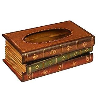 Romote elegantes Holz Antike Buch-Gewebe-Halter-Zufuhr/Neuheit Serviettenhalter