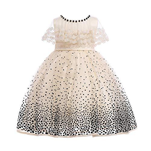 sunnymi 2-8 Jahre Polka Dot Print Spitzenkleid Kinder Mädchen Prinzessin Kostüme Party Tutu ()
