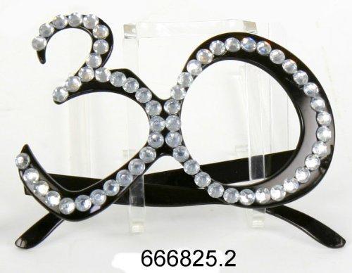 Brille zum 30. Geburtstag, Jubiläum, Scherzartikel, Gagbrille