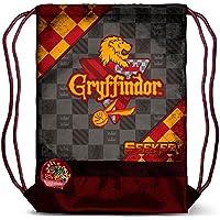 Karactermania Harry Potter Quidditch Gryffindor Bolsa de Cuerdas para el Gimnasio, 47 cm, Rojo