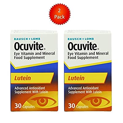 Ocuvite Eye Vitamin Mineral Food Supplement Lutein 30 Capsules - Pack of 2 by Ocuvite